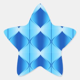 Abstract Quilt Star Sticker