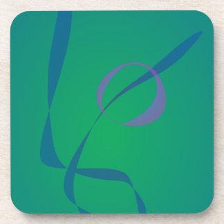 Abstract Rabbit Green Coaster