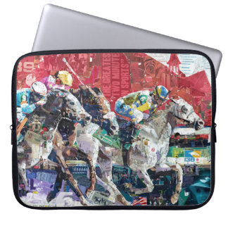 Abstract Race Horses Collage Computer Sleeve
