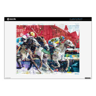 Abstract Race Horses Collage Laptop Skin