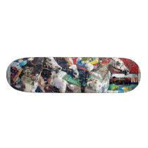 Abstract Race Horses Collage Skateboard