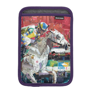 Abstract Race Horses Collage Sleeve For iPad Mini