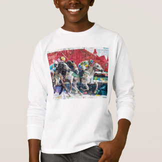 Abstract Race Horses Collage T-Shirt