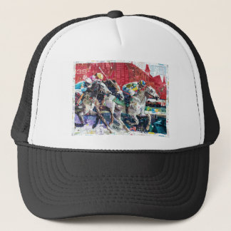 Abstract Race Horses Collage Trucker Hat