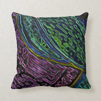 Abstract Race Track Throw Pillow