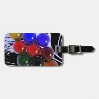Abstract Rack Billiards 101 Bag Tag
