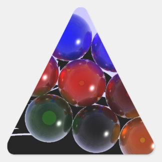 Abstract Rack Billiards 101 Triangle Sticker
