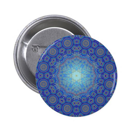 Abstract Radial Artwork: Pinback Buttons