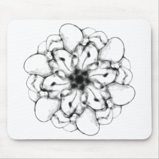 Abstract Radial Design- Floral #1 Mouse Pad