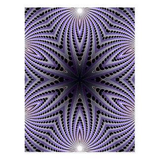 Abstract Radial Design: Postcard