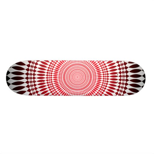 Abstract Radial Design: Skateboard