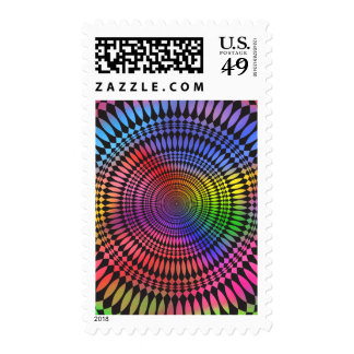 Abstract Radial Design: Stamp