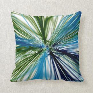 Abstract Radial Grass Throw Pillows