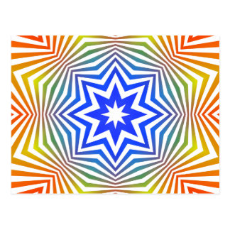 Abstract Radial Lines: Postcard