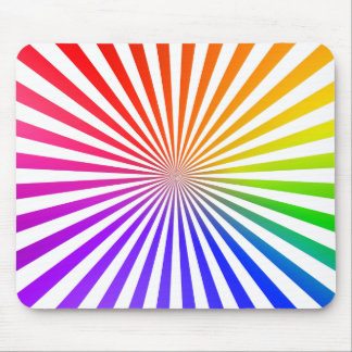 Abstract Radial Lines: Rainbow Mousepad