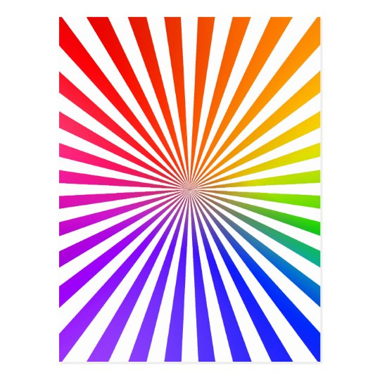 Abstract Radial Lines: Rainbow Postcard