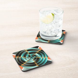 Abstract radial object beverage coaster