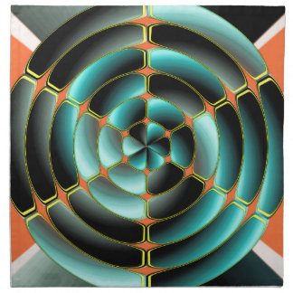 Abstract radial object napkin