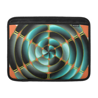 Abstract radial object sleeve for MacBook air