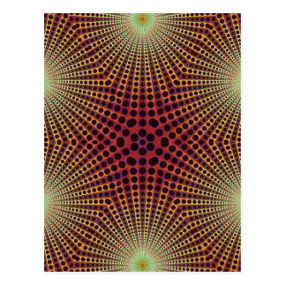 Abstract Radial Pattern: Postcard