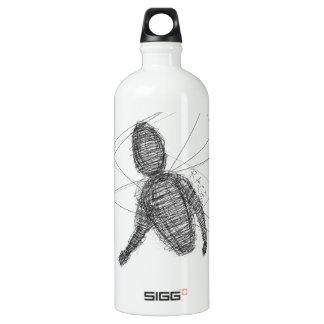 Abstract Rage Aluminum Water Bottle