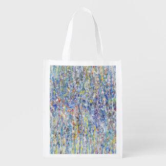 Abstract Rain Grocery Bag