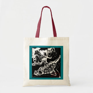 Abstract Rain Man Tote Bag