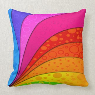 Abstract Rainbow American MoJo Pillows