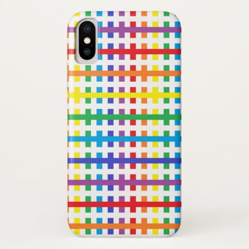 Abstract Rainbow and White Phone Case