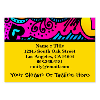 Abstract Rainbow Art High Fashion Boutique Design Large Business Cards (Pack Of 100)