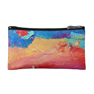 Abstract Rainbow Bagette Makeup Bag