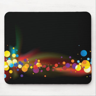 abstract rainbow bubble mouse pad