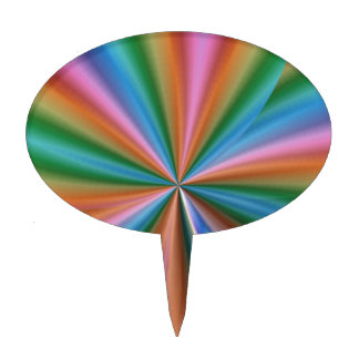 Abstract Rainbow Cake Toppers