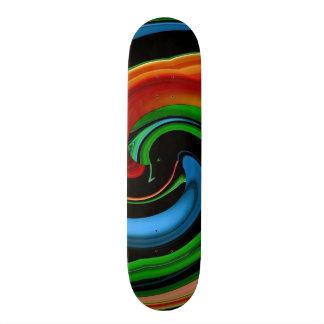Abstract Rainbow Cartoon Face Skateboard