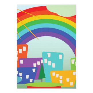 Abstract Rainbow City Card