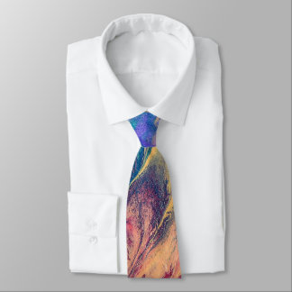 Abstract Rainbow Colorful Painting Original Art Neck Tie