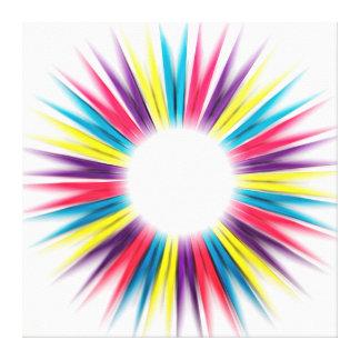Abstract Rainbow Colorful Sun Rays Pegs Canvas Canvas Print