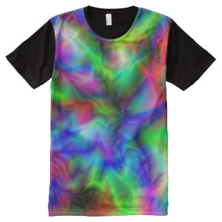 Abstract Rainbow Colors All-Over Print Shirt