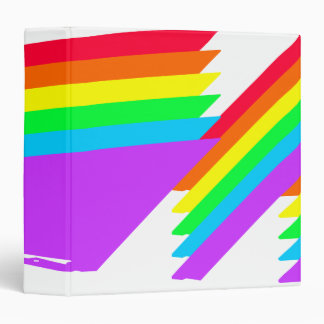 Abstract Rainbow Colors Designed Binder