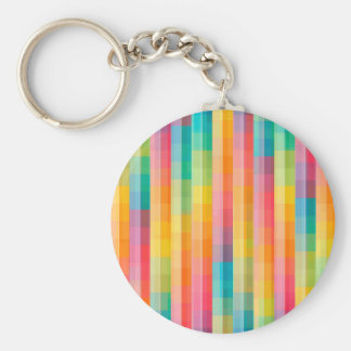 Abstract Rainbow Colors Grid Background Keychain