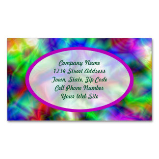 Abstract Rainbow Colors Magnetic Business Card