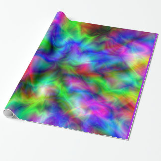 Abstract Rainbow Colors Wrapping Paper