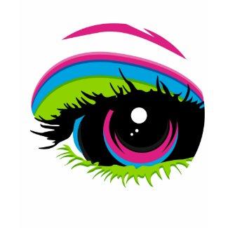 Abstract Rainbow Eye T-Shirt shirt