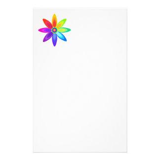 Abstract Rainbow Flower Custom Stationery