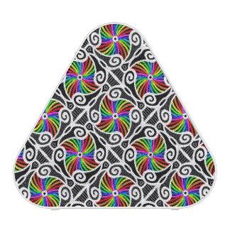 Abstract Rainbow Geometric Pattern personalizable Bluetooth Speaker