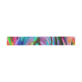 Abstract Rainbow Invitation Belly Band