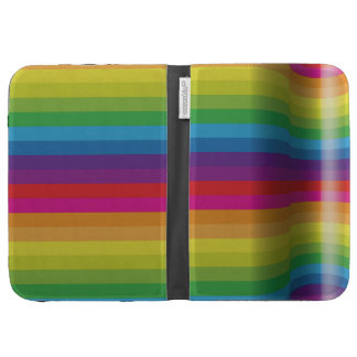 Abstract rainbow kindle cover