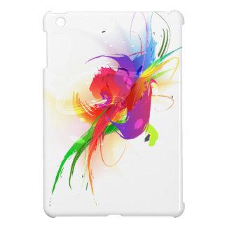 Abstract Rainbow Lorikeet Paint Splatters iPad Mini Cover