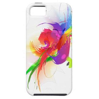 Abstract Rainbow Lorikeet Paint Splatters iPhone SE/5/5s Case