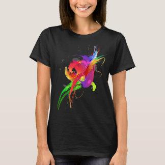 Abstract Rainbow Lorikeet Paint Splatters T-Shirt